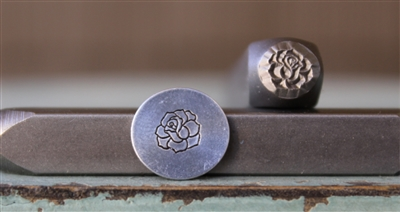 A Supply Guy Design - 6mm Rose Flower with No Stem Metal Design Stamp - SGCH-418
