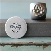 A Supply Guy Design - Dog Paw Heart Metal Design Stamp - SGCH-76