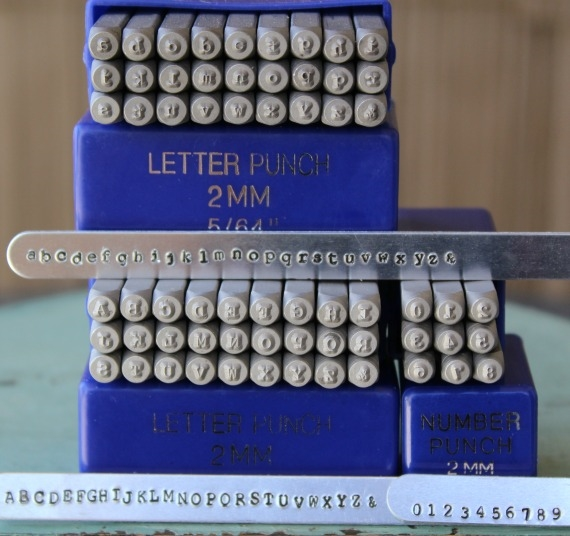 old news print set 2mm Typewriter Letters Lower Case cambria letters metal stamping steel letter set type style letter set.