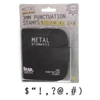 Beadsmith 3mm Punctuation Metal Stamp Set - SGLPSPU3O