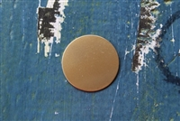 "Brass 1"" Circle Metal Stamping Blank - 5 Pack - SGMET-400.15G"