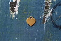 Brass 13mm x 12mm Heart with Ring Metal Stamping Blank - 5 Pack - SGMSB-2002