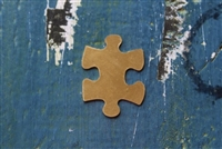 Brass 24mm x 32mm Puzzle Piece Metal Stamping Blank - 5 Pack - SGMSB-2021