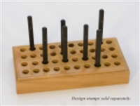 40 Hole Wood Metal Stamp Stand - SGPUN-140.00