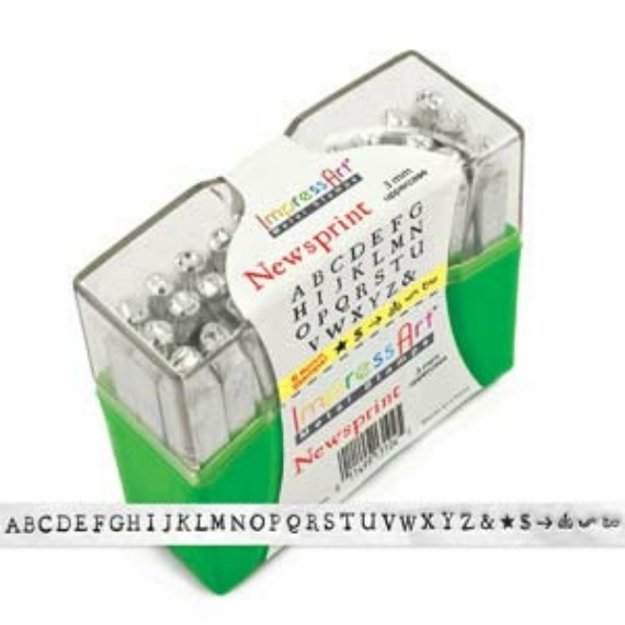 Impress Art 3mm Newsprint Font Uppercase Metal Letter Alphabet