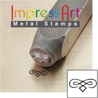 Impress Art Flourish C Metal Design Stamp - SGSC1511-C-6MM