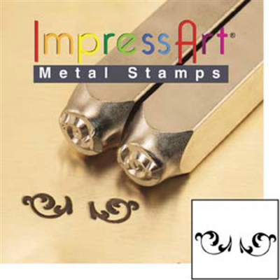 Impress Art Flourish Ends L (2 Pack) Metal Design Stamps - SGSC1511-L-6MM