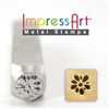 Impress Art Gardenia Metal Design Stamp - SGSC1514-C-6MM