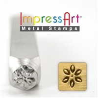 Impress Art Lily Metal Design Stamp - SGSC1514-E-6MM