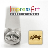 Impress Art Fish Skeleton Metal Design Stamp - SGSC1519-E-6MM
