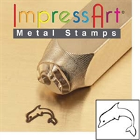 Impress Art Dolphin Metal Design Stamp - SGSC1519-G-6MM