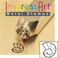 Impress Art Sea Shell Metal Design Stamp - SGSC1519-J-6MM