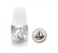 Impress Art Sail Boat Metal Design Stamp - SGSC1519-O-6MM