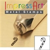 Impress Art Candy Cane Metal Design Stamp - SGSC1520-D-6MM