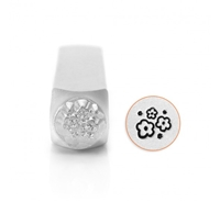 Impress Art Multi Flower Texture Metal Design Stamp - SGSC1528-V-6MM