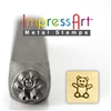 Impress Art Teddy Bear Metal Design Stamp - SGSC155-B-6MM