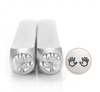 Impress Art Handprint Outline (2 Pack) Metal Design Stamps - SGSC155-O-6MM