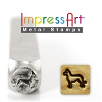 Impress Art German Shepherd Metal Design Stamp - SGSC156-AF-6MM