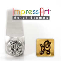 Impress Art Poodle Metal Design Stamp - SGSC156-AG-6MM