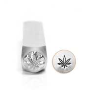 Impress Art Hemp or Pot Leaf Metal Design Stamp - SGSC156-AI-6MM