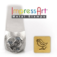 Impress Art Song Bird Metal Design Stamp - SGSC156-U-6MM