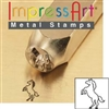 Impress Art Standing Horse Metal Design Stamp - SGSC156-X-6MM