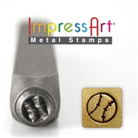 Impress Art Baseball Metal Design Stamp - SGSC157-A-6MM
