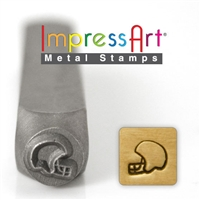 Impress Art Football Helmet Metal Design Stamp - SGSC157-D-6MM