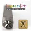 Impress Art Lacrosse Metal Design Stamp - SGSC157-F-6MM