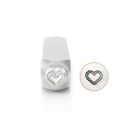 Impress Art Heart Rope Metal Design Stamp - SGSC158-AC-6MM