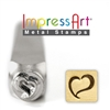 Impress Art Swirly Heart Metal Design Stamp - SGSC158-B-6MM