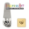 Impress Art Boogie Heart Metal Design Stamp - SGSC158-I-3MM