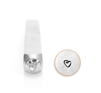 Made in the USA SUPPLY GUY 5mm Heart with Swirl Metal Punch Design Stamp SGWM-2
