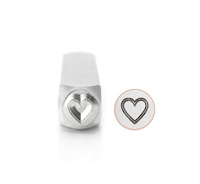 Impress Art Outlined Heart Metal Design Stamp - SGSC158-X-6MM