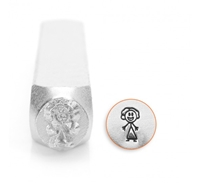 Impress Art Mom Figure Metal Design Stamp - SGSC159-B-7MM