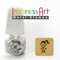 Impress Art Sara Stick Girl Metal Design Stamp - SGSC159-S-6MM