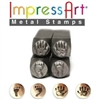 Impress Art Handprint and Footprint (4 Pack) Metal Design Stamps - SGSC15K-A-9.5MM