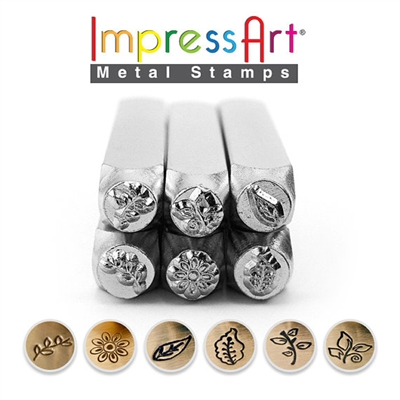 Impress Art Nature (6 Pack) Metal Design Stamp Set - SGSC15K-O-6PC