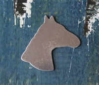 "Aluminum 1.20"" x 1"" Horse Head Metal Stamping Blank - 1 Blank - SGSOL-A002"