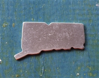 "Aluminum .7"" x 1.4"" US State Connecticut Metal Stamping Blank - 1 Blank - SGSOL-CT"