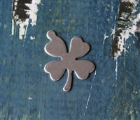 "Aluminum .75"" x 1"" Four Leaf Clover Metal Stamping Blank - 1 Blank - SGSOL-E009"