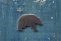 "Aluminum 1 1/4"" x 3/4"" Mama Grizzly Bear 18 Gauge Metal Stamping Blank - 1 Blank - SGSOL-MM01"