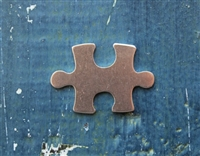 "Aluminum 1 1/4"" x 1"" Puzzle Piece 18 Gauge Metal Stamping Blank - 1 Blank - SGSOL-MM12"