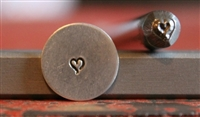 Mini Open Ended Heart Metal Design Stamp - SGU-20