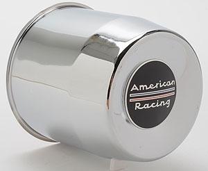 American Racing Chromed Steel Push Thru Center Cap Black