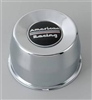 AMERICAN RACING CHROMED STEEL PUSH THRU CENTER CAP BLACK LOGO Part # 1425092