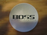BOSS Motorsports Silver With Black Letters Center Cap Concave 3209 6 Tab