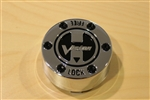 Vision Wheel 393 ATV Lock Out Chrome Wheel Rim Center Cap 393-A-CAP Dia. 3""
