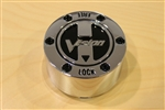 Vision Wheel 393 ATV Lock Out Chrome Wheel Rim Center Cap 393-Z-CAP Dia. 3-1/2""