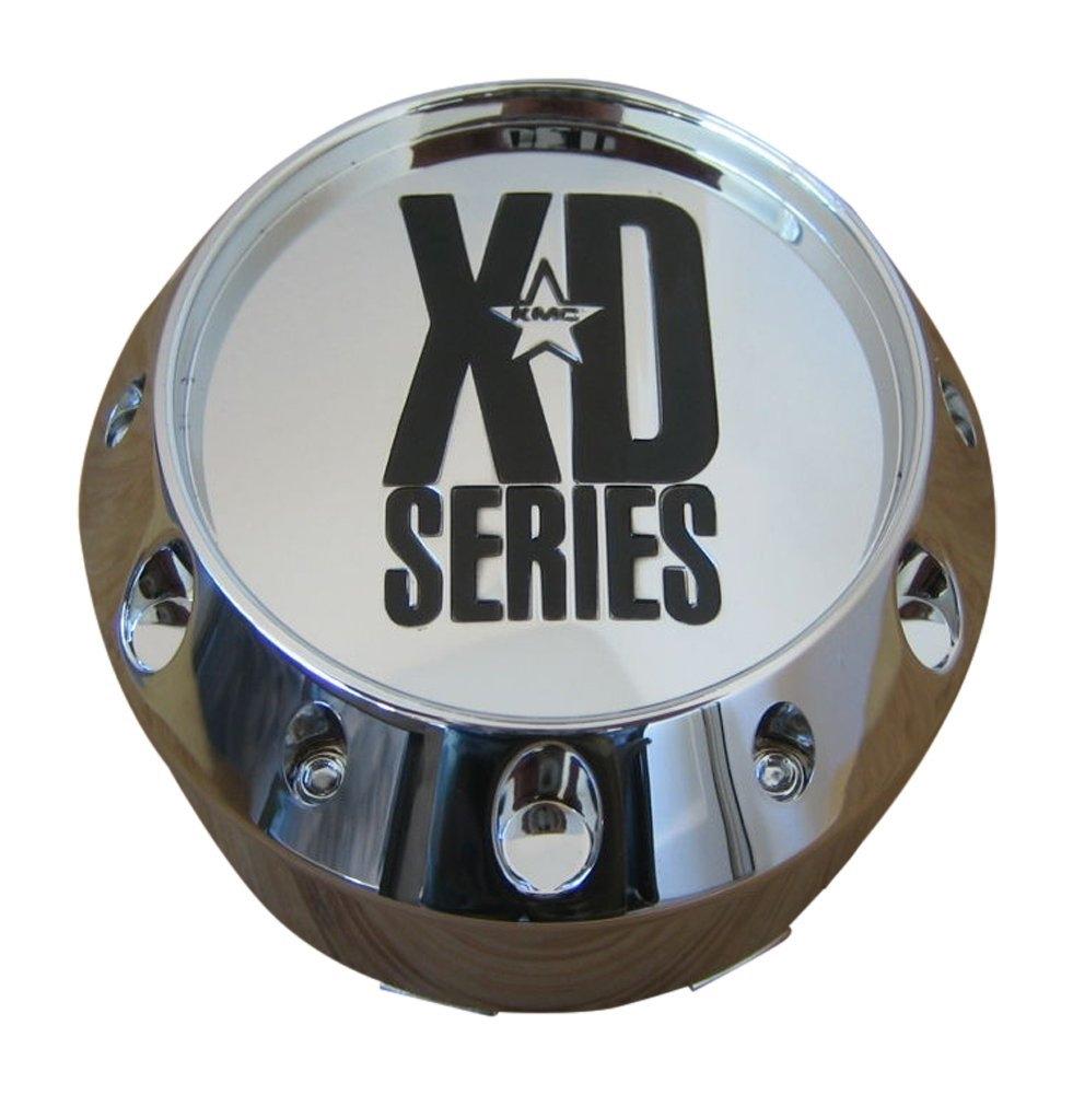 NEW CHROME KMC XD CENTER CAP 464K106 905K106 1002905 1002786 S504-35 HOSS BADLAN